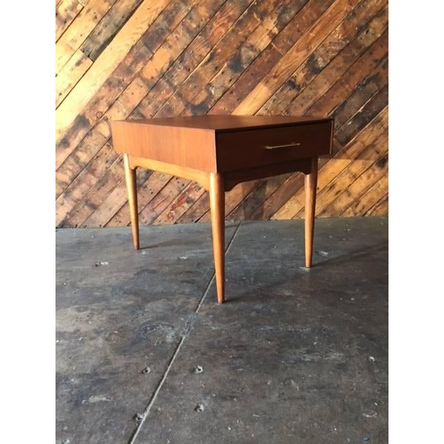 Mid-Century Refinished Side Table With Drawer - Image 5 of 6