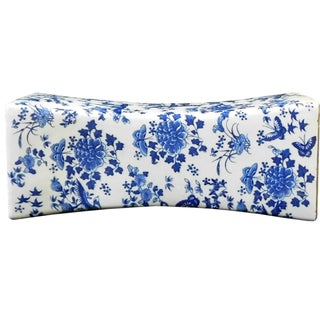 Chinese Blue White Porcelain Flowers Pillow Shape
