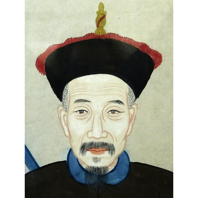 Antique Asian Ancestral Painting - Image 2 of 7