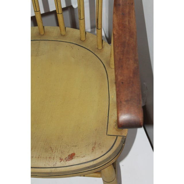 19th Century Fancy Original Painted Rocking Chair from New England - Image 9 of 10