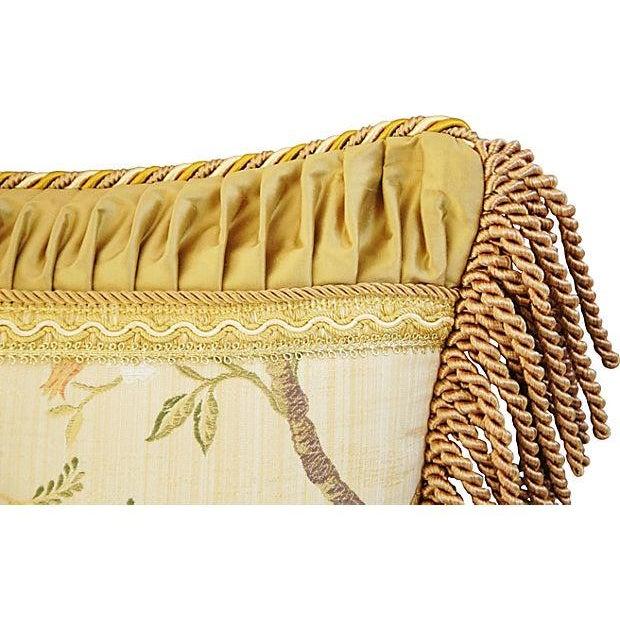 Designer Scalamandre Melograno Lampas Pillow - Image 4 of 6