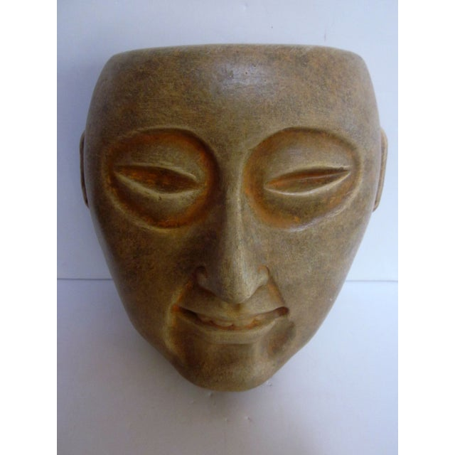 Decorative Carved Masks & Buddha Statue - Set of 3 - Image 8 of 8