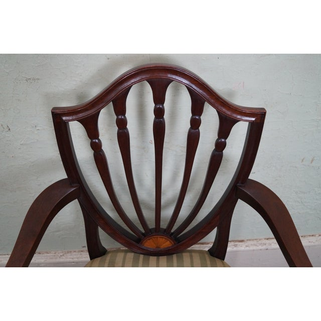 Mahogany Federal Style Inlaid Dining Chairs - 6 - Image 9 of 10