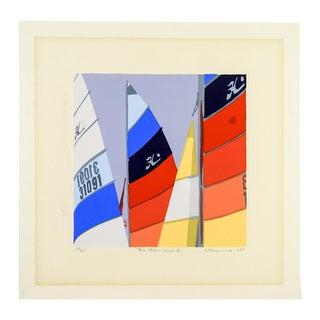 """Bright Sails """" Big Creek Color II"""" Serigraph on Paper"""