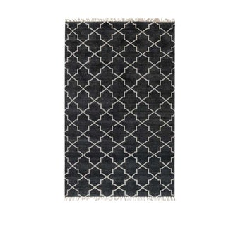 Charcoal Hand Knotted Terrace Rug - 5' x 8'