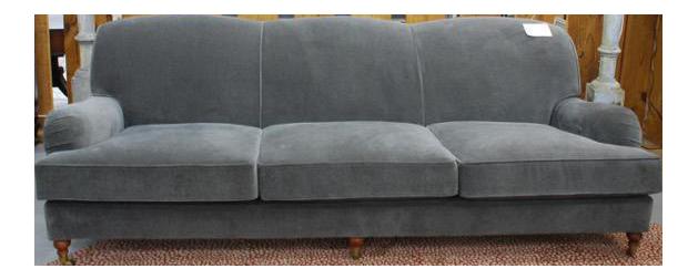 ralph lauren home langholm gray velvet sofa