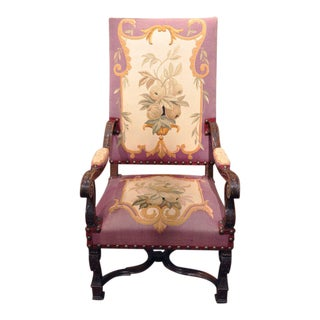 19th Century French Louis XIV Armchairs - A Pair