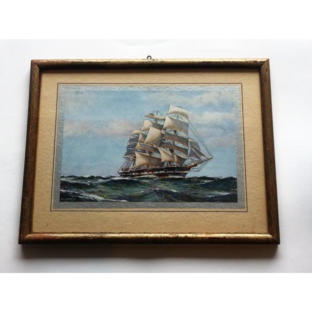 Framed Ship Print - Image 2 of 7