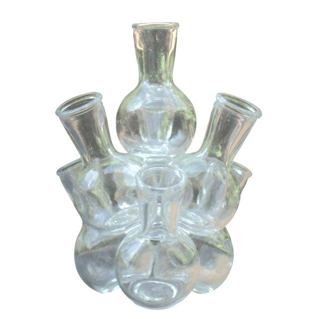Mid-Century Modern Glass Bottle Sculpture - Image 1 of 8