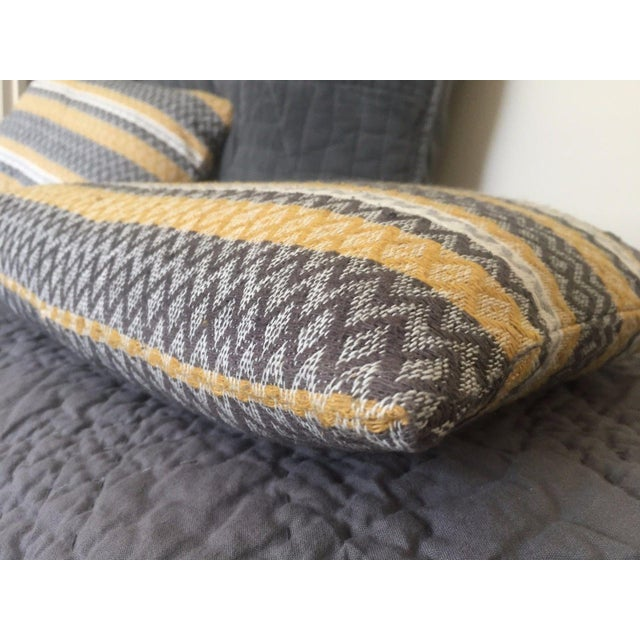 West Elm Silk Jacquard Hand-Woven Pillows - A Pair - Image 7 of 11