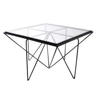 Contemporary Hacienda Glass Top Coffee Table