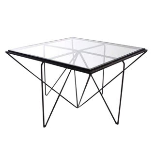 Contemporary Hacienda Glass Top Coffee Table