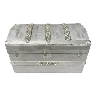 Silver Bejeweled Trunk