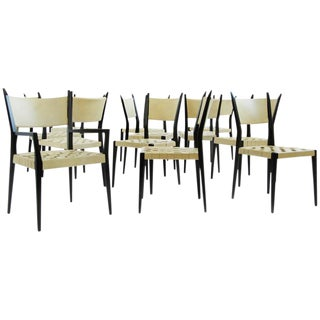 Set of Twelve Paul McCobb Dining Chairs