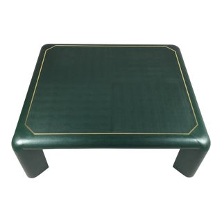 Karl Springer Leather Coffee Table