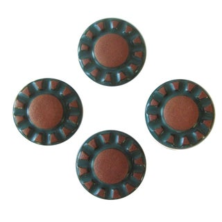 1930s Spanish Ceramic Drawer Pulls - Set of 4