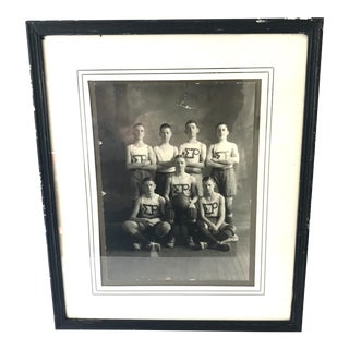 Antique Framed Portrait of Basketball Team