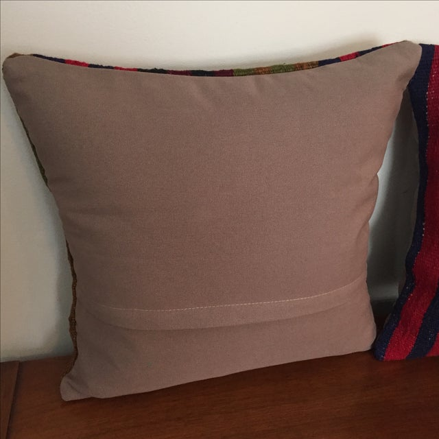 Image of Vintage Kilim Throw Pillow (One Left, on Left)
