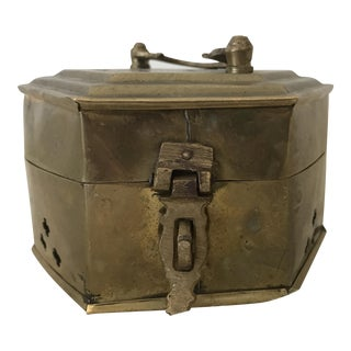 Brass Cricket Trinket Box