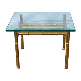Gold Faux Bamboo Metal Coffee Table