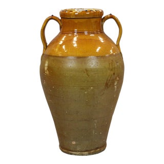 19th Century Italian Terra Cotta Olive Jar