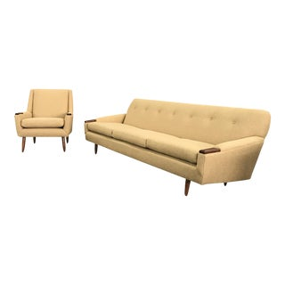 Mid-Century Modern Sofa & Chair - A Pair