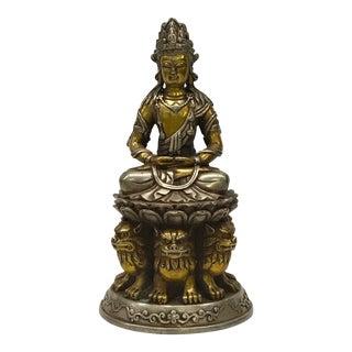 Tibetan Gold Gilt Bronze Sitting Buddha Statue