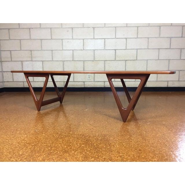 Mid-Century Danish Modern Teak Coffee Table by Kurt Ostervig for Jason Mobler - Image 11 of 11