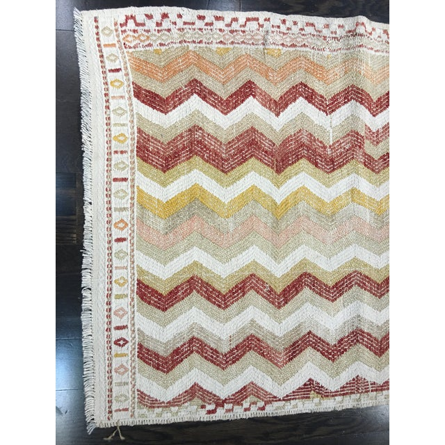 "Vintage Turkish Hemp Weave Kilim Rug- 2'5"" x 7'1"" - Image 3 of 6"