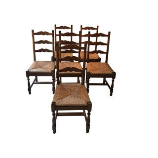 Antique Ladder Back Chairs - Set of 6