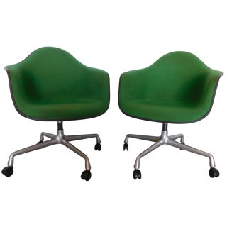 1979 Herman Miller Green Office Chairs - Pair