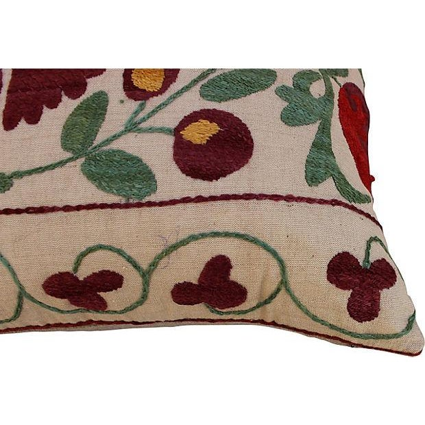 Suzani Embroidered Pillows - A Pair - Image 5 of 6