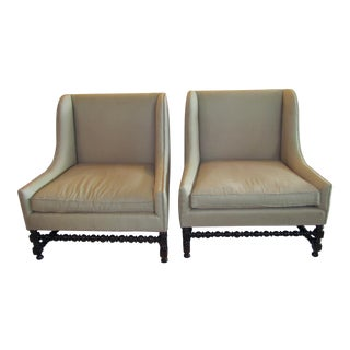 Custom Upholstered Accent Chairs - A Pair