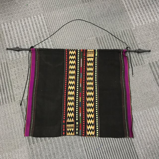 Vintage Bolivian Purple Wall Hanging - Image 2 of 6