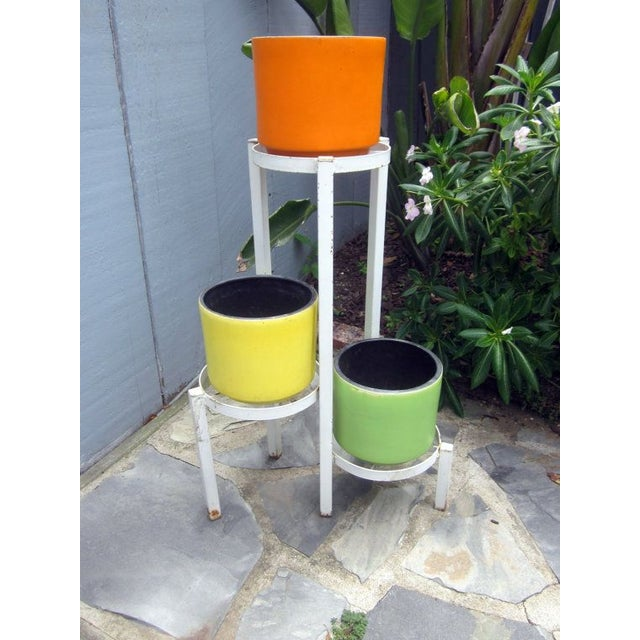 Modernist Plant Stand + California Pot Set Planter - Image 2 of 6
