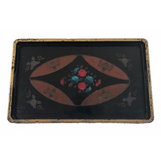 Gold Trimmed Black Tray