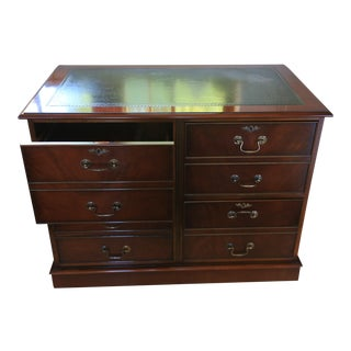 Antique Mahogany Finish File Cabinet