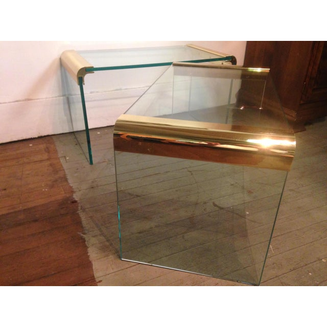 Image of Midcentury Waterfall Sides Table by Leon Rosen - 2