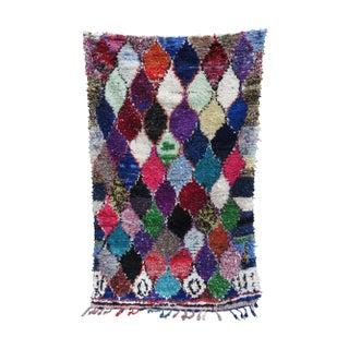 "Multicolor Boucherouite Area Rag Rug - 5' 5"" x 9'"