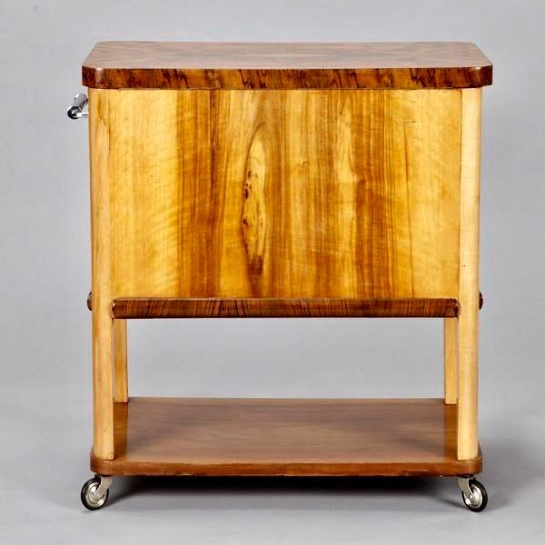 French Art Deco Liquor Cabinet Cart - Image 5 of 5