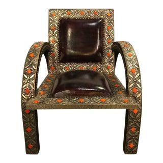 Royal Style Camel Bone Armchair