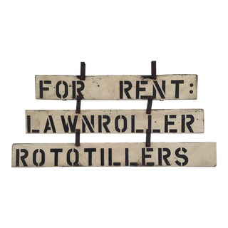 Vintage 'For Rent' Farm Sign