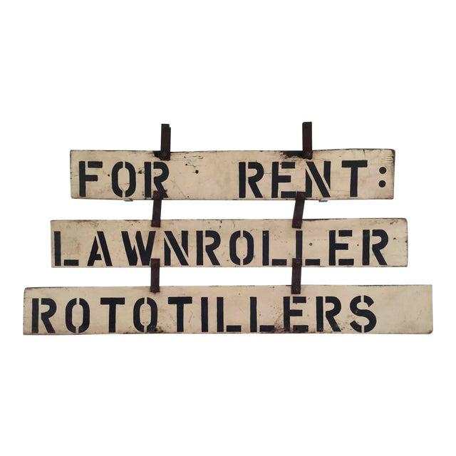 Vintage 'For Rent' Farm Sign - Image 1 of 4