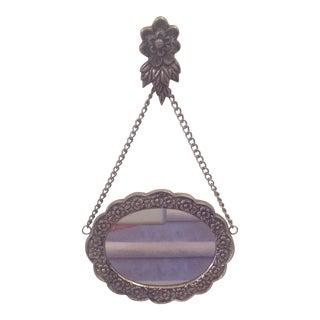 Vintage Floral Metal Mirror
