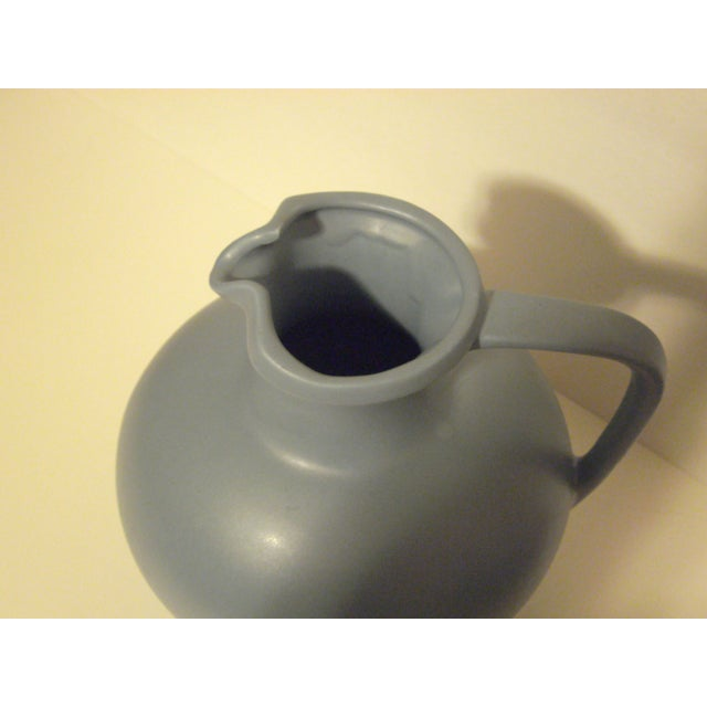Large Art Pottery Blue Pitcher - Image 6 of 6