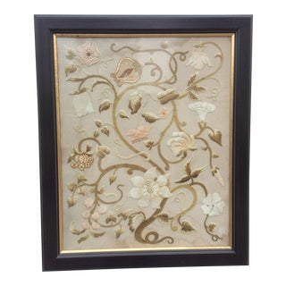 Antique Floral Needlework Art
