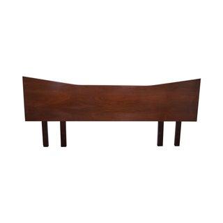 Mid Century Modern Walnut Bowtie King Headboard