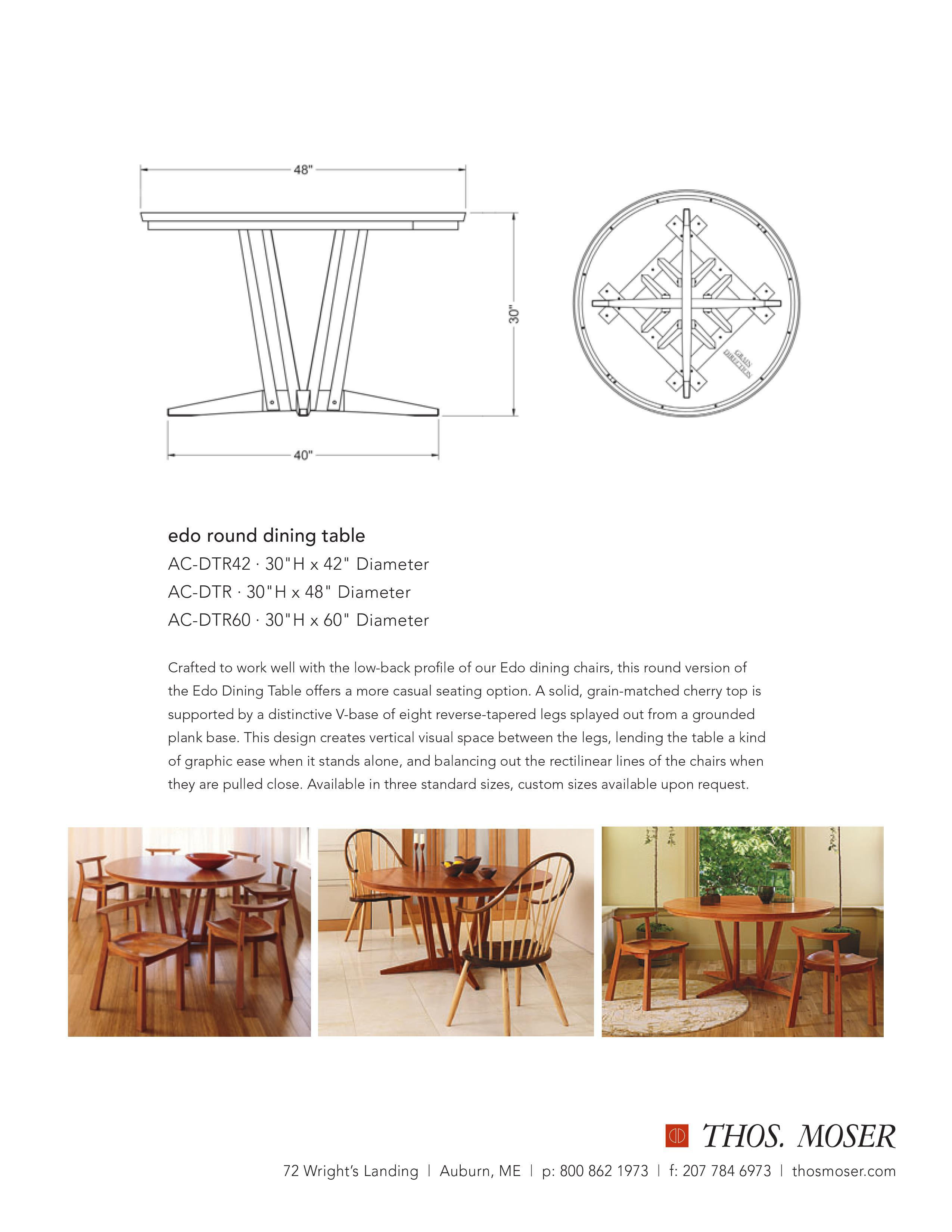 Thomas Moser Edo Table With 4 Dining Chairs   Image 9 Of 10