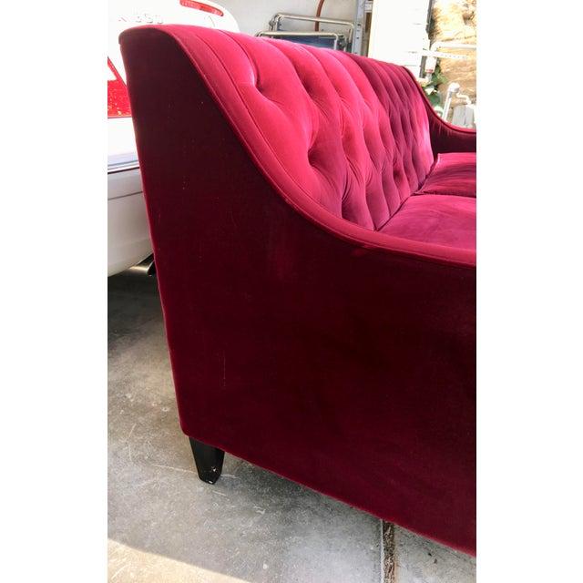 Hollywood Regency Style Velvet Sofa - Image 5 of 11