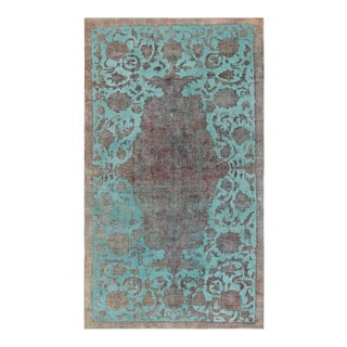 """Pasargad Vintage Overdyed Wool Area Rug - 4'11"""" X 8'9"""""""